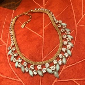 R.J. Graziano mint green and gold statement piece